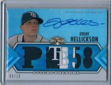2012 Topps Triple Threads Sapphire JEREMY HELLICKSON Autograph Patch 8/10 (9349)