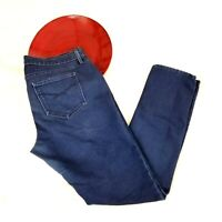 Gap 1969 Womens Always Skinny Jeans Size 32/14 Dark Blue Mid Rise Super Stretch