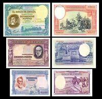 2x 25, 50, 500 Pesetas - Edición 1935 & 1936 - Reproducción - 21