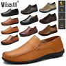 Men's Driving Moccasins Casual Boat Shoes Leather Shoes Light Slip On Loafers AU