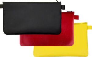3 x Banktasche schwarz rot gelb Geldtasche Aufbewahrungstasche Geldmappe Tasche