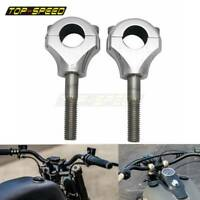 """1"""" in 25mm Motorbike Motorcycle Handle Bar Risers Clamp Mount Polish For Harley"""