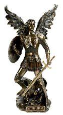Original Veronese Erzengel Michael Figur Engel Skulptur Kunststein bronziert