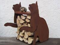 Katze Holzregal Katzen kein Herz rostig Kater Edelrost Rost Garten Geschenk Idee