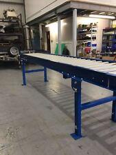 Roller Track conveyor 500mm width rollers 1000mm long on legs Brand new