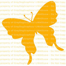 Tilted Silhouette Butterfly Vinyl Decal Auto Tattoo Sticker Curly Car Vehicle