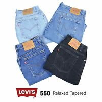 Vintage Levis 550 a Vita Alta Donna Morbido Stretti in Fondo Maternità Jeans 26
