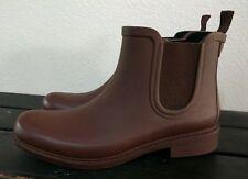 J. CREW MADEWELL Chelsea Rain Boots Matte Burgundy Size 8