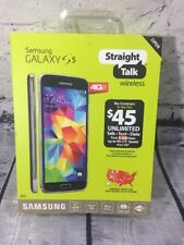 New Samsung Galaxy S5 STSAS903VCPWP 4G LTE Straight Talk Prepaid Smartphone