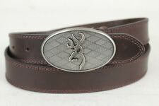 Browning Mens Brown Leather Belt Sz 40