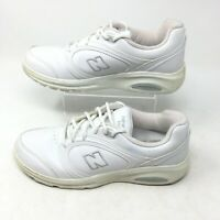 New Balance 812 WW812WT White Leather Athletic Running Shoes Lace Up Womens 8 B