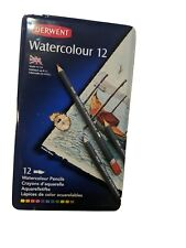 Derwent Watercolour Pencils Tin 12 Watercolor Made In Great Britain 32881