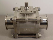 """3"""" 316  1000 WOG STAINLESS BALL VALVE WITH MALE/MALE CLAMP FITTINGS"""
