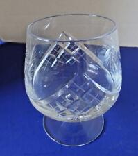 Brandy Snifter, Vintage Pinwheel Crystal Brandy Glass