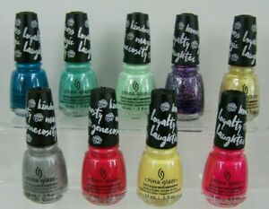 My Little Pony China Glaze Nail Polish Collection Lot of 9 Sparkles Laquer New