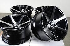 15x8 4x100 Black Effect Rims Low Offset Polished Fits Miata Cabrio CRX Wheels