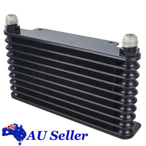 10 Row Oil Cooler Racing Coated Mount Engine Transmission AN10 32mm Universal