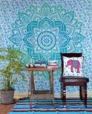 Indian Blue Mandala Tapestry Wall Hanging Throw Hippie Beach Blanket Decor Art