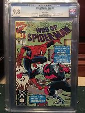 WEB OF SPIDERMAN #81 CGC 9.8 NM/MT 1ST BLOODSHED (ID )