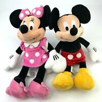 "Disney Store Mickey & Minnie Mouse Plush Stuffed Animal Toys 18"" Disneyland New"