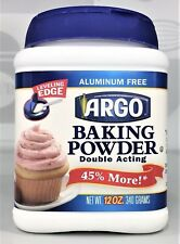 Argo Double Acting Aluminum Free Baking Powder 12 oz~US Seller~Free Shipping