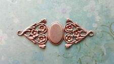 Rose Gold Ox Fancy Connector Cameo Settings (1) - RGRAT3317 Jewelry Finding