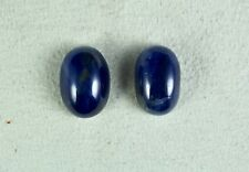 NATURAL UNHEATED BLUE SAPPHIRE CABOCHON OVAL 2 PIECES 31CARATS GEMSTONE FOR RING