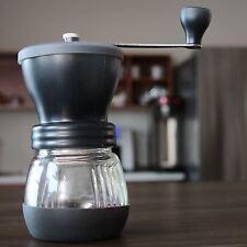 NEW Khaw-Fee Hand Coffee Grinder Ceramic Burr Glass Storage Jar Coffee Spices