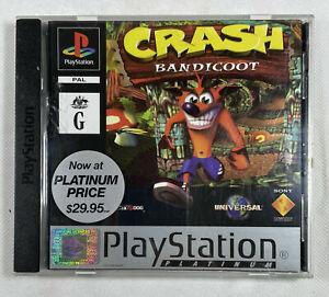 PS1 Crash Bandicoot  Sony Playstation 1 PAL (1996) Naughty Dog