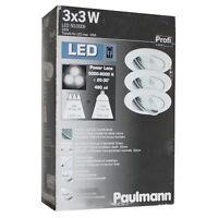 paulmann 3x3w power led m bel einbauleuchten tageslicht 6500k 98352 ebay. Black Bedroom Furniture Sets. Home Design Ideas