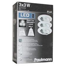Paulmann Power Lens 3x3w DEL Lumière du jour alu installation lampes inoxydable Bain Extérieur