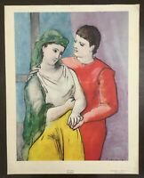 """Pablo Picasso Vintage Print Canvas~The Lovers~21""""x 26""""~National Gallery Of Art"""