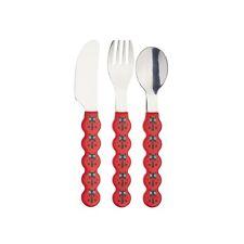 KitchenCraft Kids Three Piece Ladybird Cutlery Set