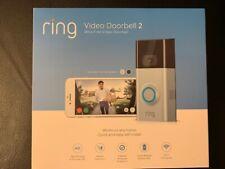 Sealed New! Ring Video Doorbell 2 - Satin Nickel 8Vr1S7-0En0/88-0201-Nc-Us a