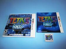 Tetris Axis (Nintendo 3DS) XL 2DS Game w/Case & Manual