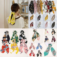 Women Floral Geometric Hair Scarf Bow Scrunchies Hair Ties Hair Rope Big Peony