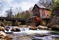 "CHOIS WM4063 Landscape Wall Murals Bridge River Wallpaper Stickers 100"" x 145"""