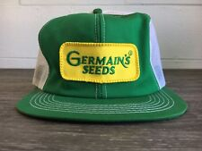 Snapback Hat K Products MESH Vtg 70s Germain's Seeds Patch Trucker Work USA