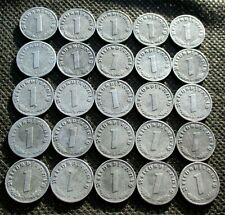 BIG LOT OF 25 OLD COINS THIRD REICH GERMANY SWASTIKA WORLD WAR II - MIX 1256