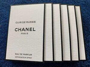 5 Pcs Chanel Cuir De Russie EDP Vials Spray 1.5ml/e
