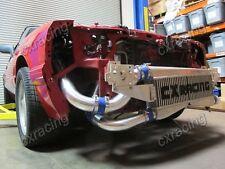 CXRacing FMIC Twin Turbo Intercooler Kit For 79-93 Fox Body Ford Mustang V8 5.0