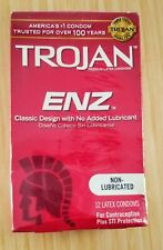 Trojan ENZ 12 Count Non-Lubricated Condoms Exp: 2/2024 America's #1 Condom