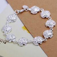 ASAMO Damen Armband mit Rosen 925 Sterling Silber plattiert Schmuck A1135