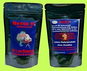 Betta Nr 3 Kampffisch u. Labyrinther Fischfutter 100 ml rote Mückenlarven FD