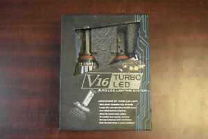 Turbo Auto LED lights V16 H11 6000K