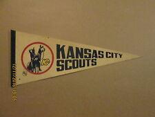 NHL Kansas City Scouts Vintage Defunct Logo Hockey Pennant