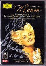 DVD Edita GRUBEROVA & Francisco ARAIZA Signiert MASSENET: MANON WIENER Ponnelle