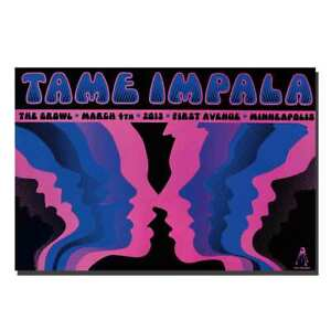 New Tame Impala Psychedelic Rock Currents Album 24x36 12x18 Silk Poster 1109