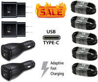 Fast Car Wall Charger Type-C USB-C Cable For Samsung Galaxy S8 S9 S10 S20 Note 9