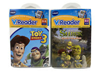 VTech Shrek's VacatIon & Toy Story 3  V.Reader Learning Game * Lot Of 2 *